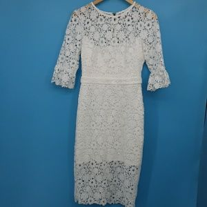 Adelyn Rae Eloise Lace Dress White Small (In)